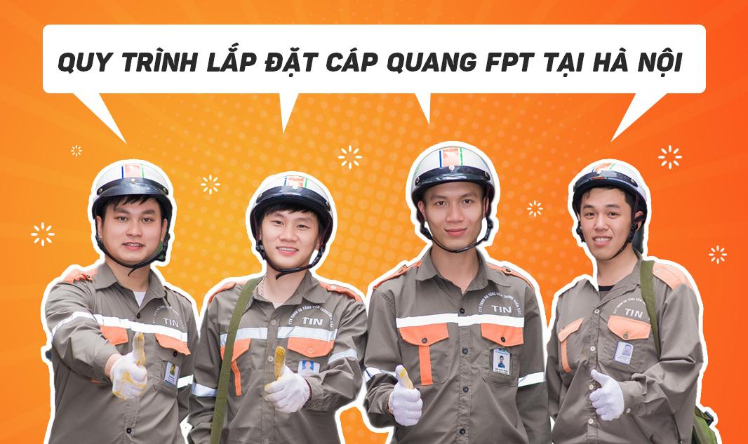Quy trình lắp đặt cáp quang FPT tại Hà Nội