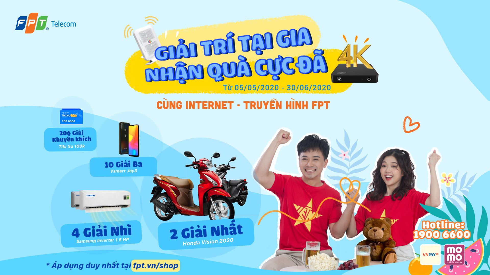 Fpt Telecom Khach Hang Ca Nhan Khuyến Mại Internet Fpt Giải Tri Tại Gia Nhận Honda Vision Cung Internet Truyền Hinh Fpt